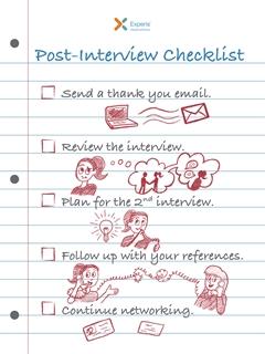 post interview checklist
